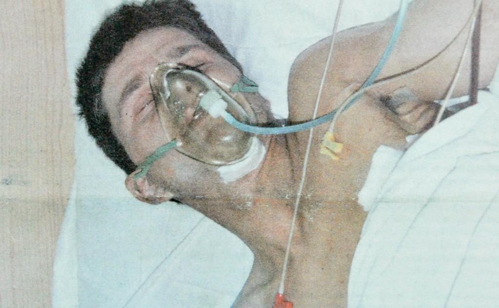 Laurențiu Gabriel Cotea în secția de reanimare a Spitalului de Urgență Floreasca